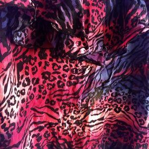 Forever 21 Tops - 💖5/20💖 Ruffle Animal Print Tank Top